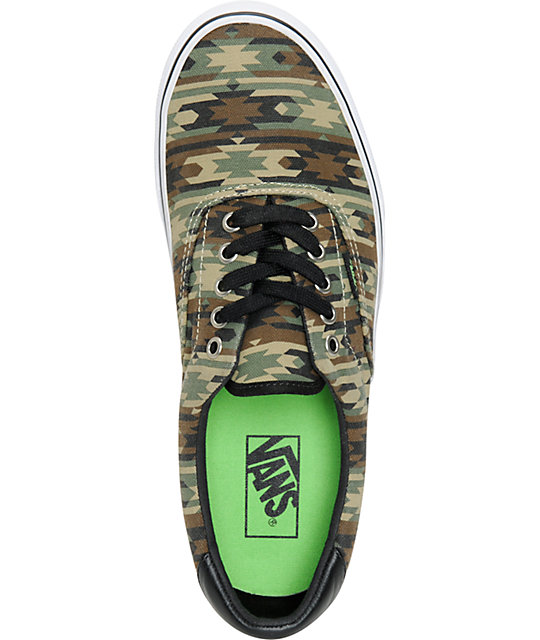 Vans Era 59 Native Camo & Black Canvas Skate Shoes