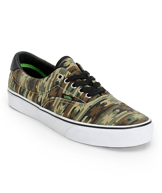 a20196398a7be9 Vans Era 59 Native Camo   Black Canvas Skate Shoes