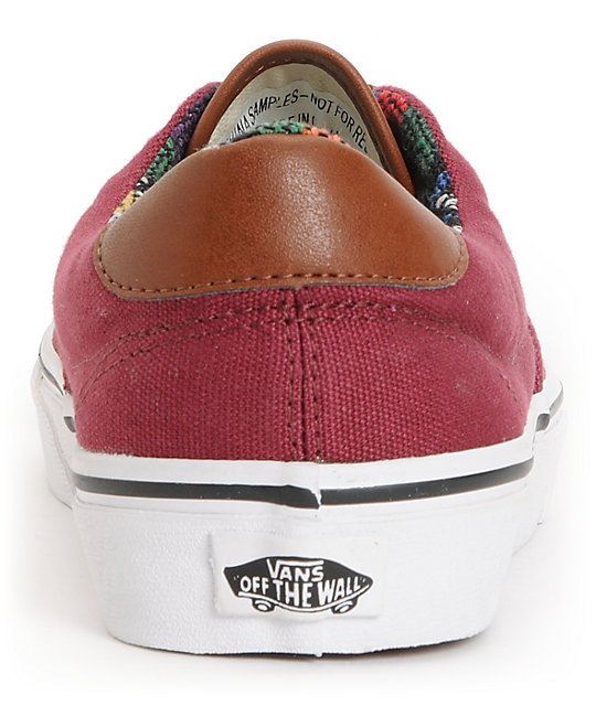 Vans Era 59 Tawny Port & Guate Canvas Skate Shoes