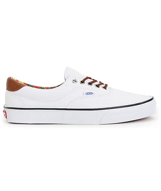 d9d879085b45ad ... Vans Era 59 True White   Aloha Print Canvas Skate Shoes