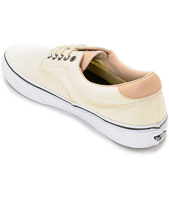 Vans Era 59 Veggie Tan & White Skate Shoes