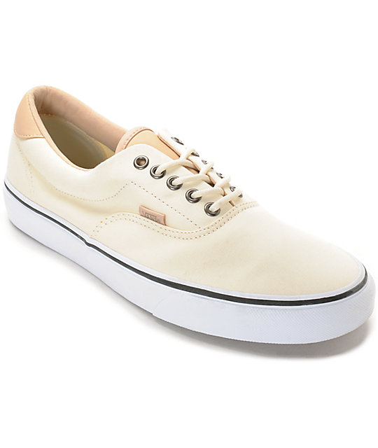 41228776b232 Vans Era 59 Veggie Tan   White Skate Shoes