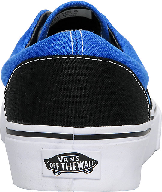 Vans Era Black & Royal Skate Shoes