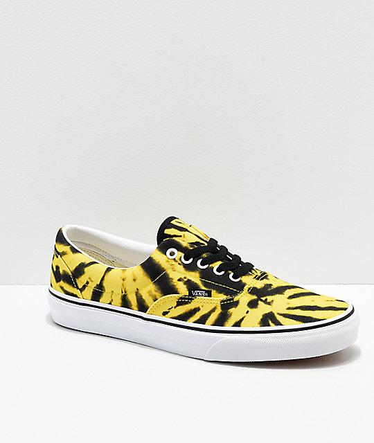 vans black and yellow