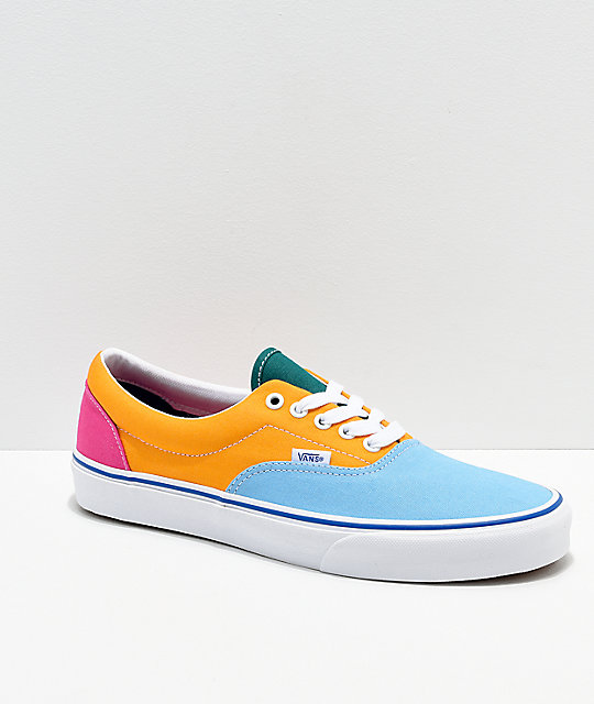 eda8c4a69f39 Vans Era Bright Color Blocked Skate Shoes