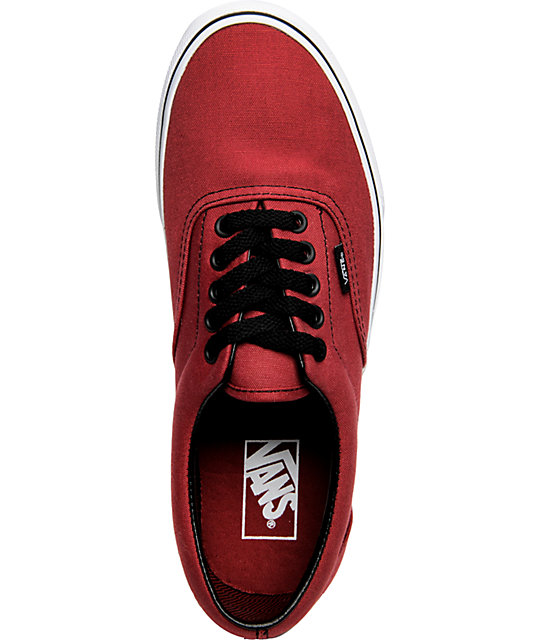 Vans Era Burgundy & Black Skate Shoes