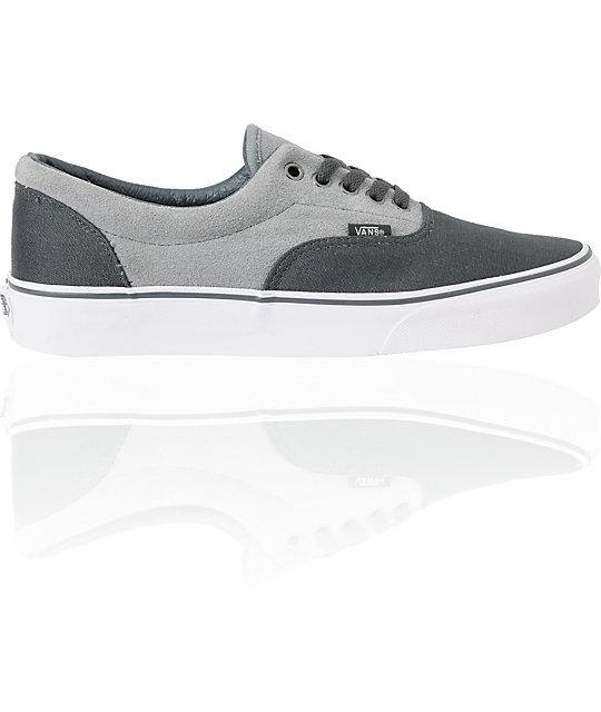 ... Vans Era Charcoal   Grey Skate Shoes 009417f3d
