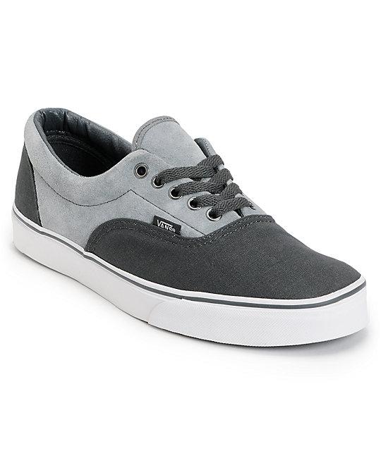 Vans Era Charcoal   Grey Skate Shoes  fb0588a7d