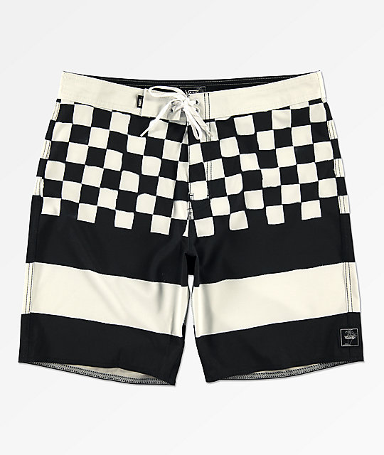 6a20d9096497b Vans Era Check Black & White Board Shorts | Zumiez