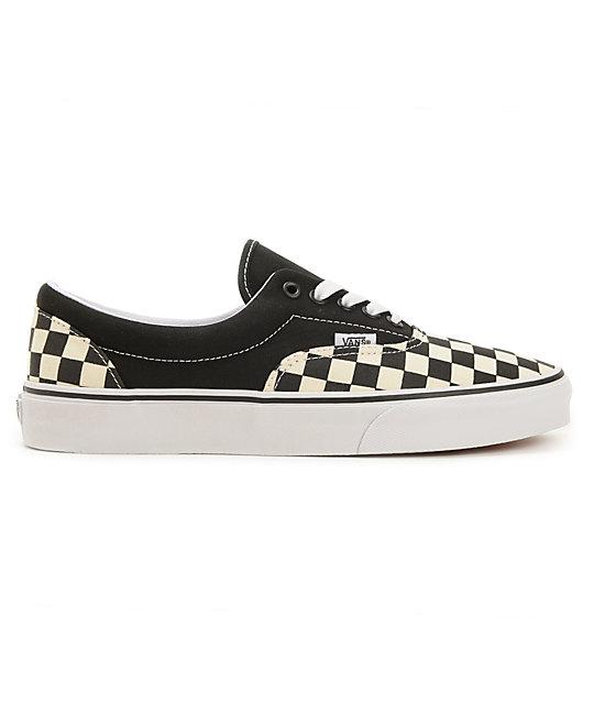 0ee4927ca4dd ... Vans Era Checkerboard Black   Natural Skate Shoes