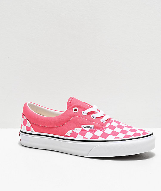 Vans Era Checkerboard Strawberry Skate Shoes