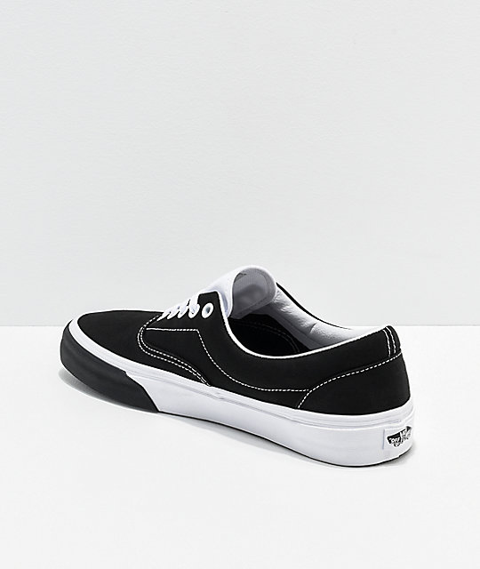 Vans Era Color Block Black & White Skate Shoes