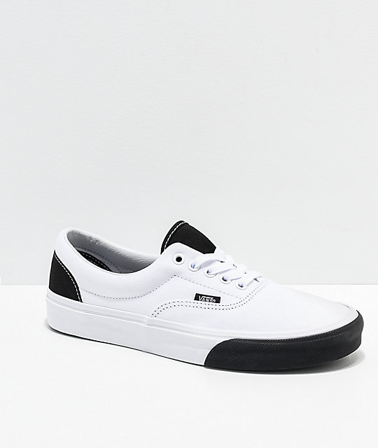 Vans Era Color Block White   Black Skate Shoes  3a8e54ee7