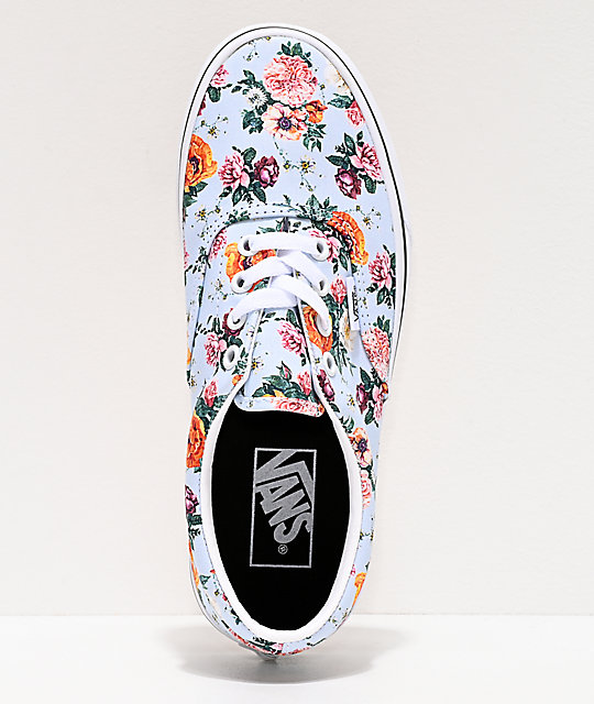 Vans Era Garden Floral & True White Skate Shoes