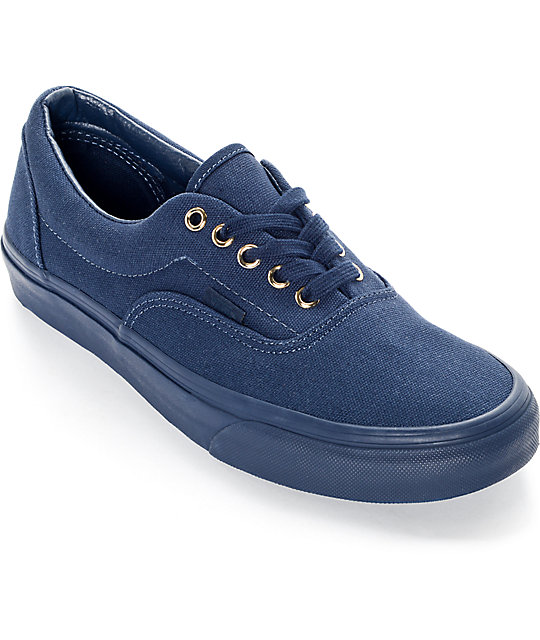 Vans Era Gold Mono Dress Blues Skate Shoes