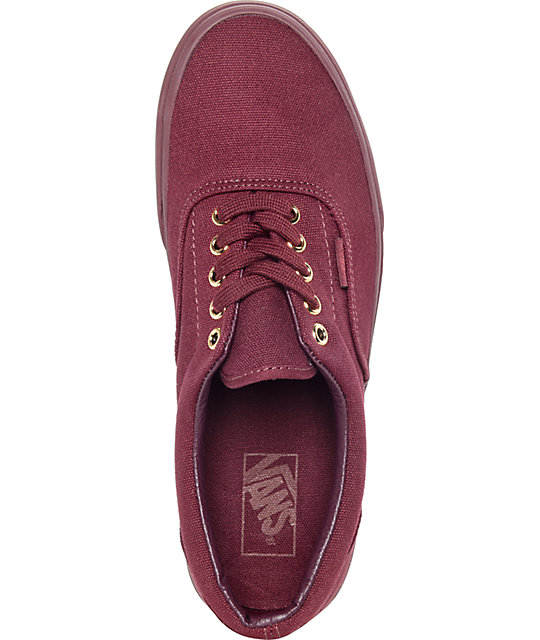 49337dce5b ... Vans Era Gold Mono Port Royale Skate Shoes ...
