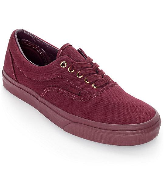 Color Skate De Gold Zapatos Era Vans Zumiez Mono Borgoño En Xxq105w5