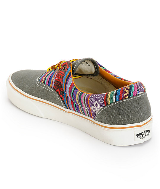 Vans Era Guate Olive Night Canvas Skate Shoes