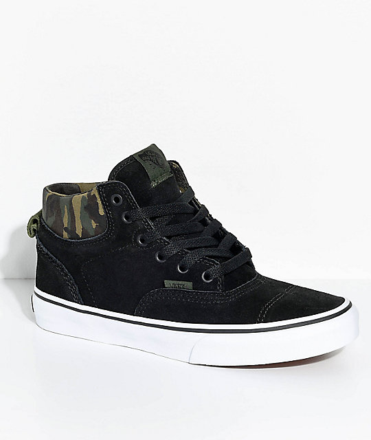 competitive price 0de30 508a7 Vans Era Hi Black & Camo Suede Skate Shoes