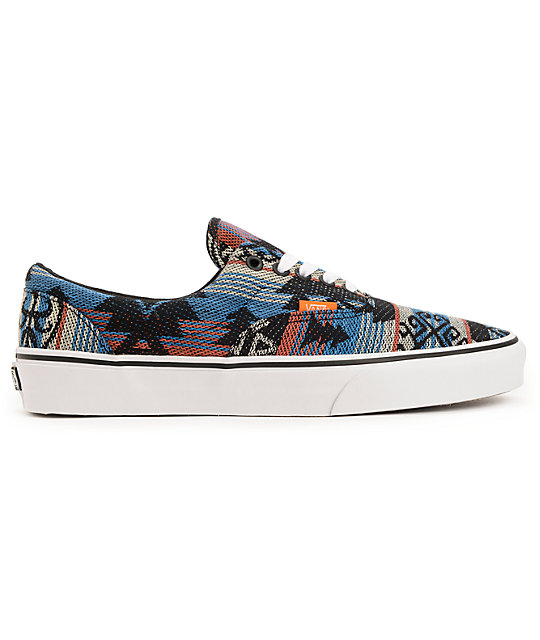 ... Vans Era Inca Blue   Black Skate Shoes e76798541c