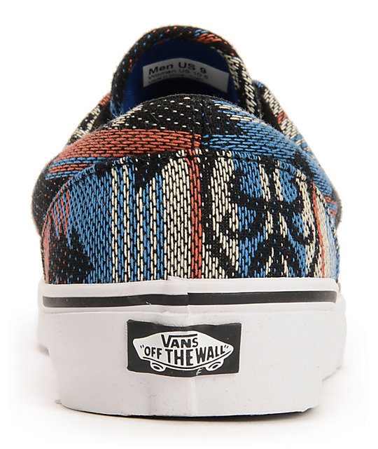 ... Vans Era Inca Blue   Black Skate Shoes ... ea096bbb73