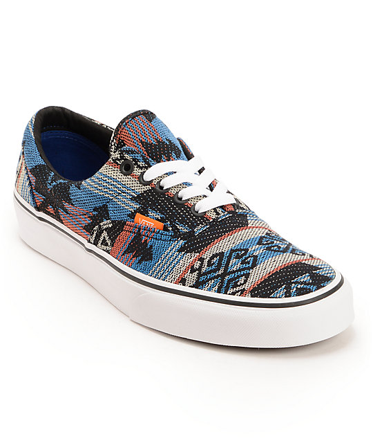 Vans Era Inca Blue   Black Skate Shoes  0a8b26bf23