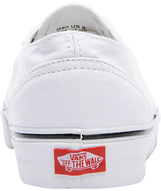 Vans Era Laceless All White Skate Shoes
