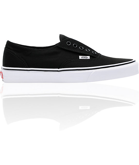 Vans Era Laceless Black & White Skate Shoes