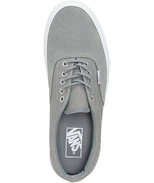... Vans Era Monument Grey   True White Hemp Skate Shoes ... 9691d4d756