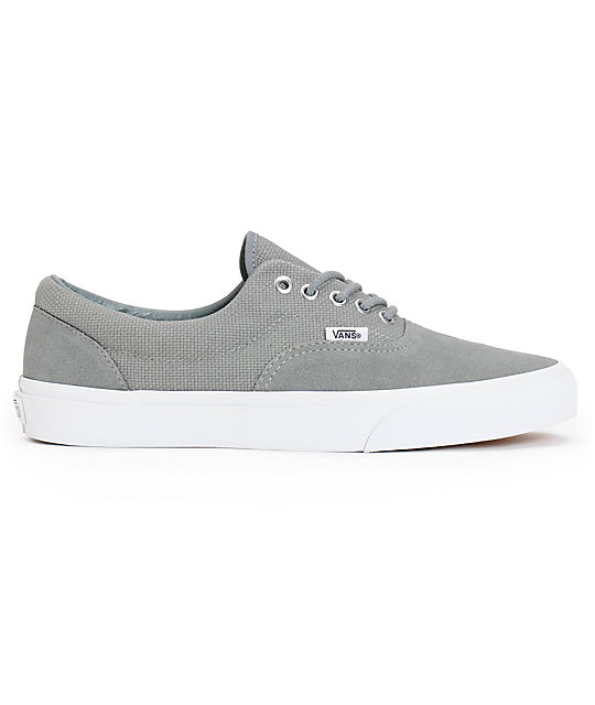 ... Vans Era Monument Grey   True White Hemp Skate Shoes 9999c3c6ef