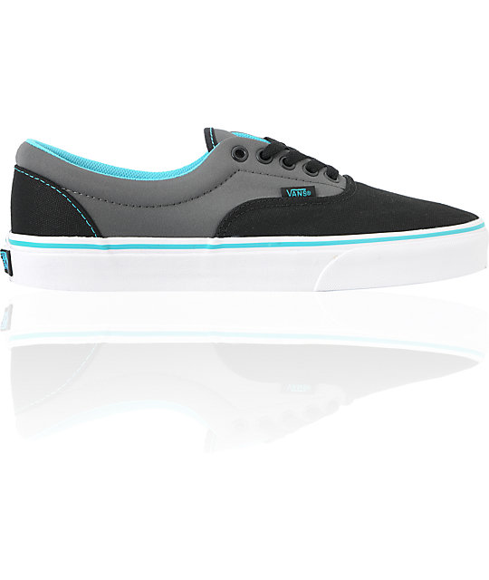 2644e3d249 Vans Era Neoprene - Black   Scuba Blue Skate Shoes