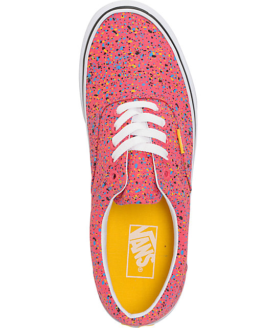 Vans Era Overspray Red Skate Shoes