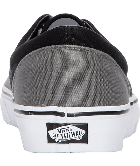 Vans Era Pewter & Black Skate Shoes