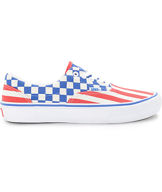 d160ffe5d75887 ... Vans Era Pro 50th 83 Stripes and Checkers Skate Shoes