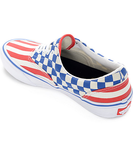 e080722ccda405 ... Vans Era Pro 50th 83 Stripes and Checkers Skate Shoes ...