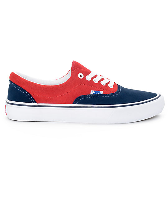 vans era pro 50th navy and red skate shoes