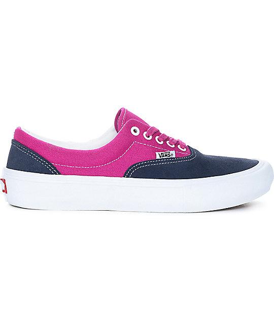 e46e606083 ... Vans Era Pro Navy   Fuchsia Skate Shoes