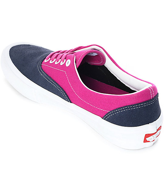 f62238d1cd ... Vans Era Pro Navy   Fuchsia Skate Shoes ...