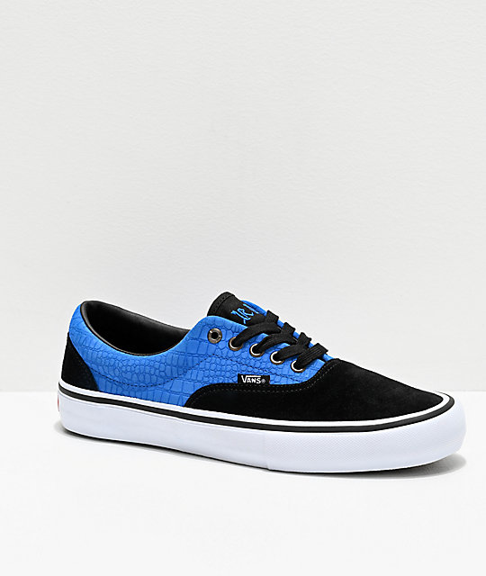 Vans Era Pro Zorilla Blue Crocodile Skate Shoes