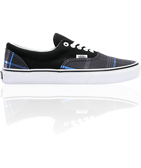 Vans Era Scout Black Plaid Skate Shoes