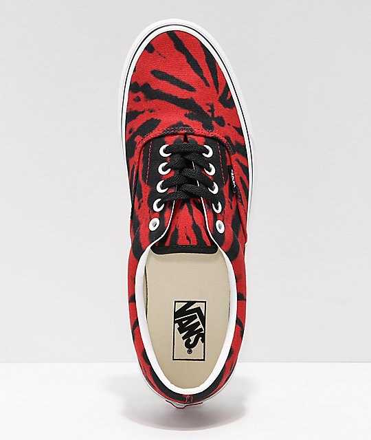 Vans Era Tango Red Tie Dye Skate Shoes