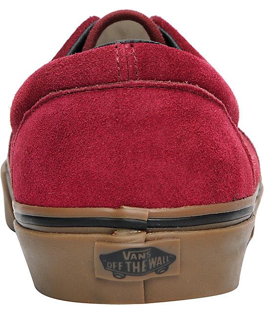 d2af749cd6 ... Vans Era Tawny Port   Gum Suede Skate Shoes ...