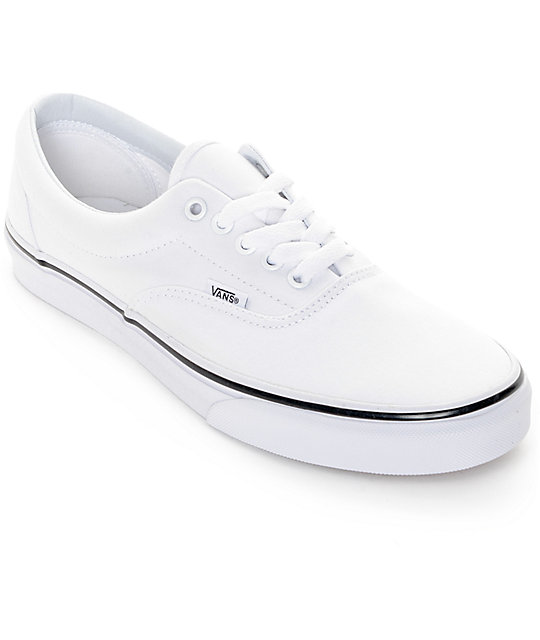 SCARPE SKATEBOARD VANS ERA TRUE WHITE