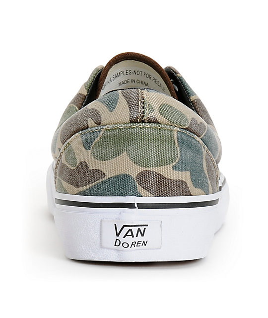 Vans Era Van Doren Camo Canvas Skate Shoes