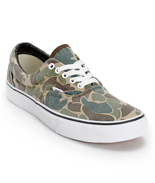 3b261d55938c90 Vans Era Van Doren Camo Canvas Skate Shoes