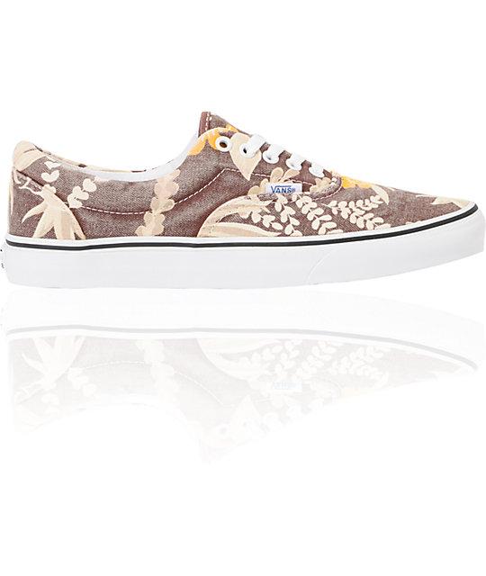 3348a061a76025 ... Vans Era Van Doren Maroon   Hawaiian Skate Shoes