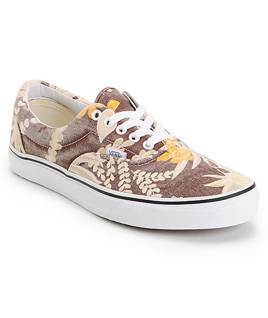 f9eb641df65503 Vans Era Van Doren Maroon   Hawaiian Skate Shoes