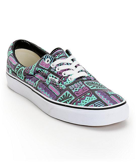 Vans Era Van Doren Maui   Black Skate Shoes  b73ba22811ae