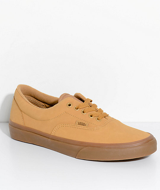d1f79b46553499 Vans Era Vansbuck Mono Light Gum Skate Shoes