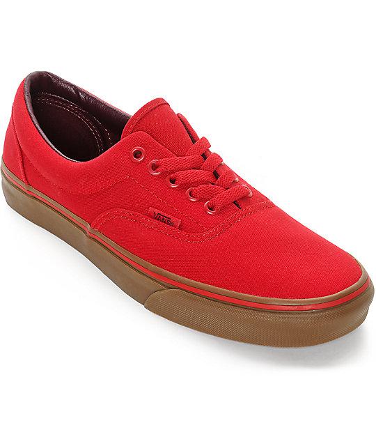 Zapatos rojos Vans para hombre yssYY